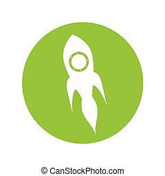 rocket launcher startup isolated icon vector illustration...