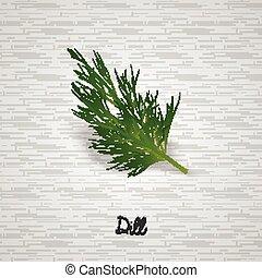 Sprig of dill illustration - Illustration of Sprig of dill...