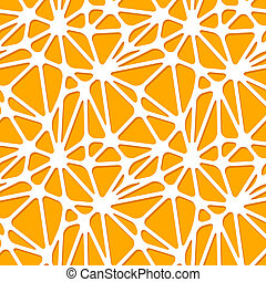 Abstract orange shapes on white, seamless pattern - Abstract...