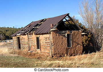 Adobe Historic Culture - Old adobe building is crumbling...