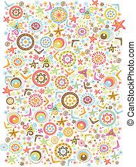 pattern retro cute - Illustration colorful cute graphic...