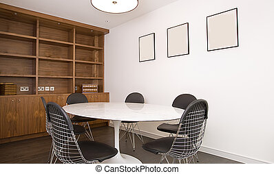 Meeting Room or Dining Room - Interior Shot of a Meeting...