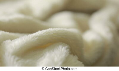 White fur for background or texture. warm blanket - White...