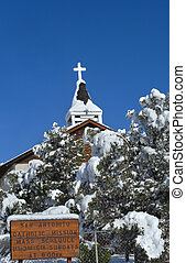Covered in Fresh Snow - San Antonito Catholic Mission is...