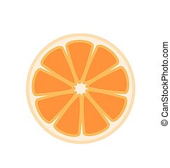 Half Orange Vector Illustration