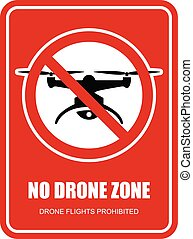 No drone zone restrictive sign