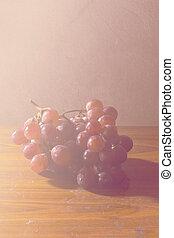 葡萄, 生活, 仍然, 藝術, 紅色