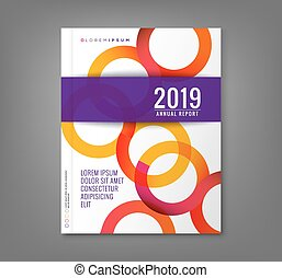 Abstract circle background for business annual report book...