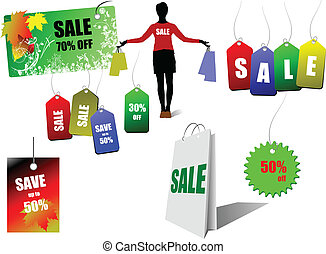 Sale coupons. Vector illustration