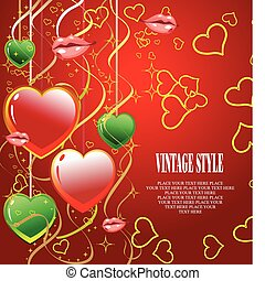 Valentine`s Day  Greeting Card. Ve