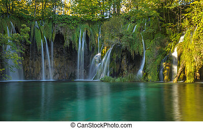 Plitvice Lakes National Park, Croatia. UNESCO world heritage...