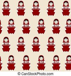 Matryoshka russian doll - Pattern with Matryoshka russian...
