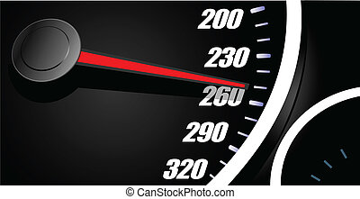 Sport car speedometer. Vector illustration
