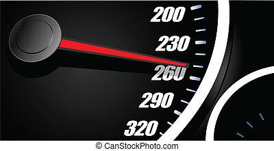 Sport car speedometer. Vector illustration