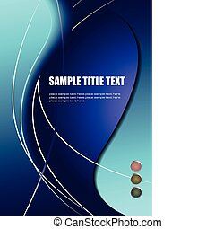 Abstract colored waved background with traffic light. Vector...