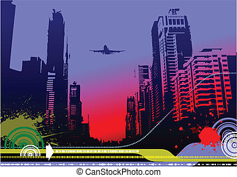 Abstract urban hi-tech background