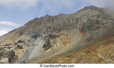 Caldera of active volcano Mutnovsky. - Caldera of the active...
