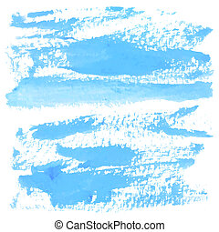 Abstract blue watercolor on white background
