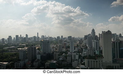 Timelapse of clouds sailing over Bangkok, Thailand -...