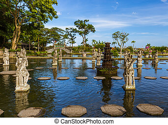 Water Palace Tirta Ganga - Bali Island Indonesia - Water...
