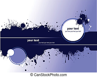 Grunge blot banner. Vector illustr