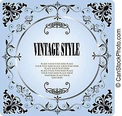 Vintage style frame Vector illustration for designers