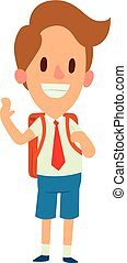 School kid character vector. - School kid character vector...