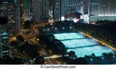 Timelapse of Hong Kong, night cityscape - Timelapse shot of...