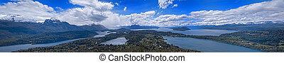 Nahuel Huapi National Park Panorama - A Panoramic view of...