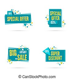 special offer, discount - Sale banner. Vector tag. special...