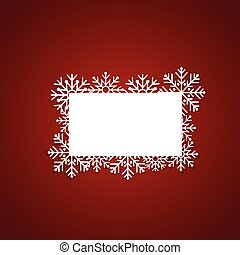 Christmas Greeting Card with snowflakes, vector illustration.
