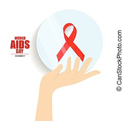 World AIDS Day. 1st December World Aids Day poster. Vector...