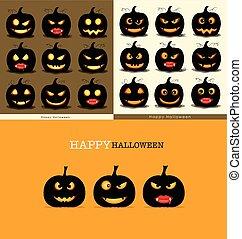 Happy Halloween background with Halloween pumpkin. Vector...