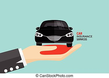 Car insurance business service. Vector illustration concept...