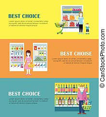 Best Choice Concept Vector Banners in Flat Design. - Set of...