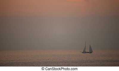 Sailing Boat, Sunset