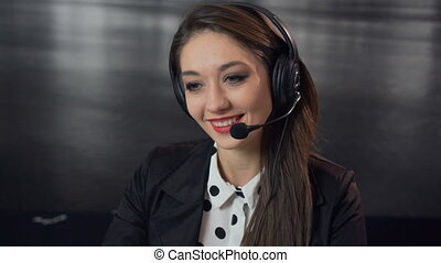 Call Center Specialist - A studio shot of a beautiful...