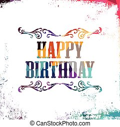 happy birthday bstract colorful triangle geometrical...