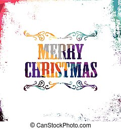 merry christmas bstract colorful triangle geometrical...