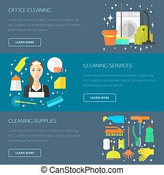 Cleaning concept, template.