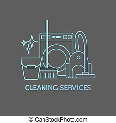 Cleaning logo elements. - Vector trendy cleaning services...