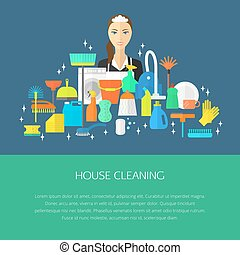 Cleaning concept, poster.