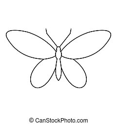 Moth icon, outline style - Moth icon. Outline illustration...