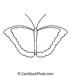 Butterfly scoop icon, outline style - Butterfly scoop icon....