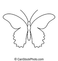 Butterfly urticaria icon, outline style - Butterfly...