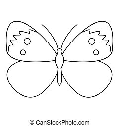 Copper butterfly icon, outline style - Copper butterfly...