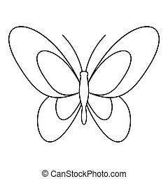 Beautiful butterfly icon, outline style - Beautiful...