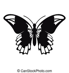 Admiral butterfly icon, simple style - Admiral butterfly...