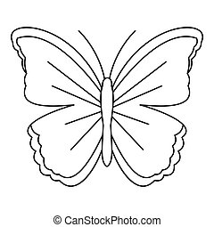 Big butterfly icon, outline style - Big butterfly icon....