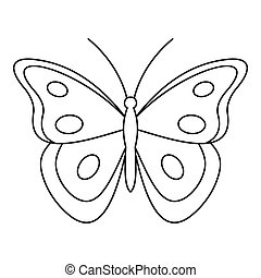 Aphantopus butterfly icon, outline style - Aphantopus...